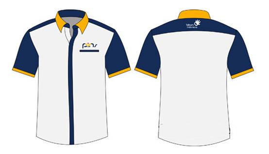 desain baju kantor pendek