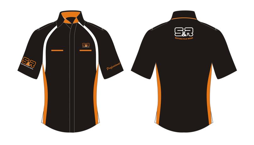 desain seragam kantor hitam