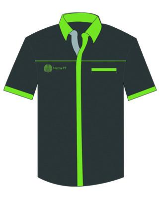 baju hitam kombi hijau