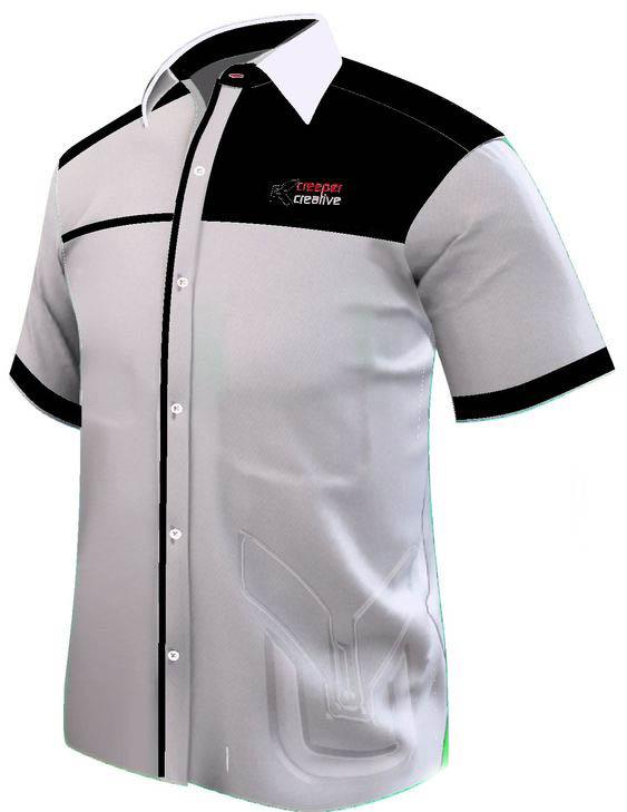 baju kemeja putih kombinasi