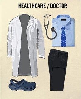 pakaian seragam medis