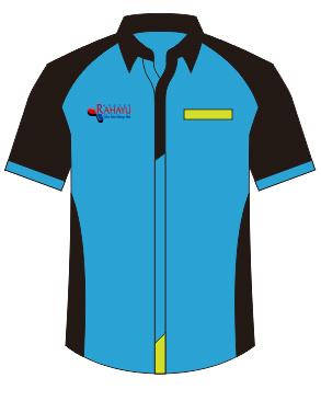 seragam kantor biru hitam