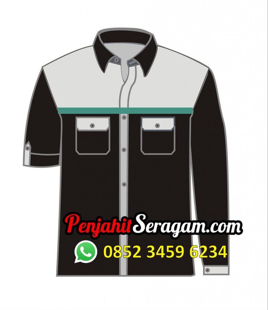 baju kombinasi hitam abu-abu
