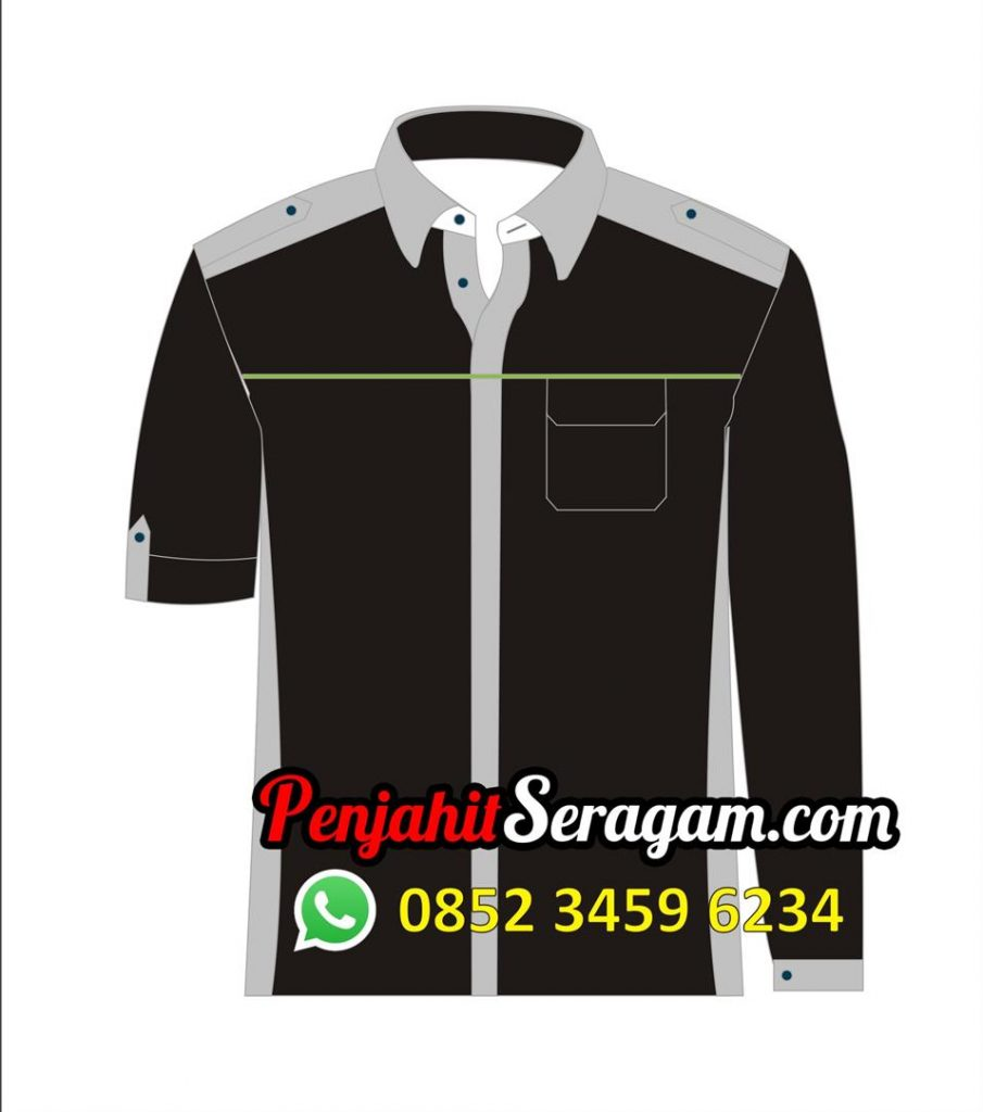 desain baju kerja lengan panjang